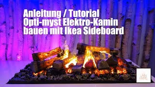 IKEA HACKS! 😱🔨 Elektrokamin bauen opti myst 3D in IKEA TV Sideboard Feuerstelle real flame fireplace