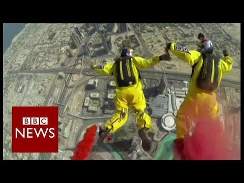 Jumping off the world's tallest building- BBC News
