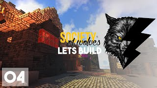 Minecraft Lets Build :: Society of Wolves :: Medieval Pub! Part 4
