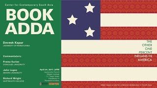 Devesh Kapur Book Adda – The Other One Percent: Indians in America
