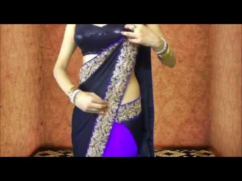 Sexy Bollywood Saree Drape:How To Wear Saree Like Ketrina Kaif
