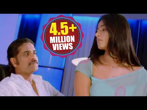 Anushka Kisses To Nagarjuna video