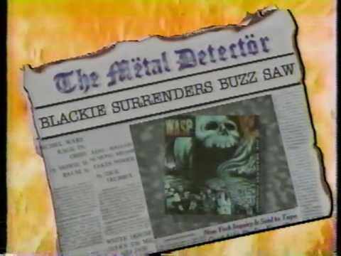 WASP VINTAGE NEWS BLACKIE LAWLESS 1988 HEADBANGER'S BALL