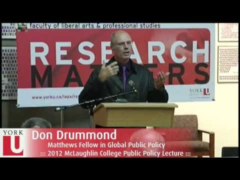 Economist Don Drummond: How Did the World Economy Get So Messed Up? Some Old and New Lessons | YorkU