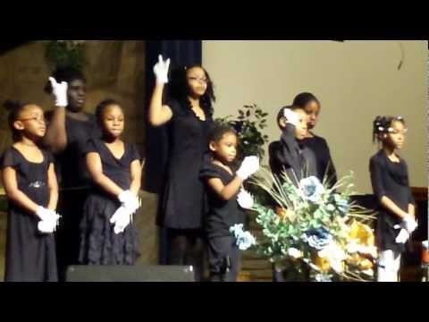 Baltimore Junior Academy sign Choir Performing Hallelujah Salvation & glory