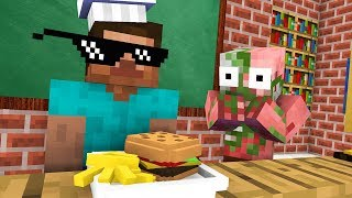Monster School : Cooking Challenge - Funny Minecraft Animation
