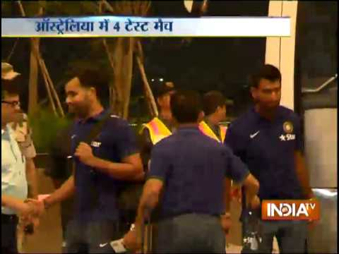 Team India leaves for Australia