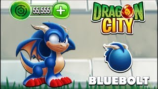"Dragon City - Sonic the Hedgehog ""Bluebolt Dragon"" [Video Game Island - Full Unlock 2017]"