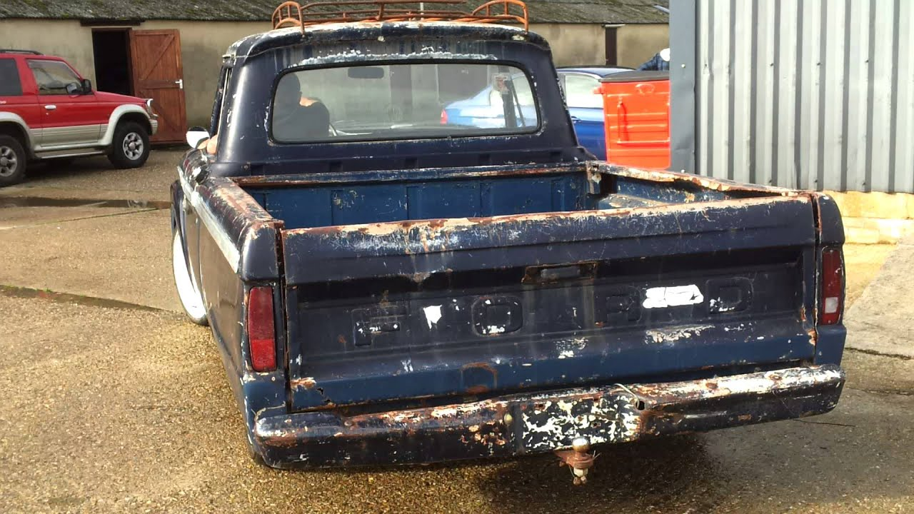 FORD F100 PICK UP RAT ROD 1966 - YouTube