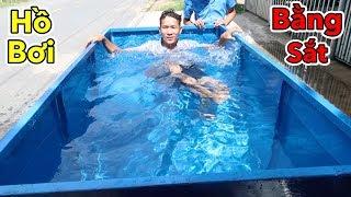 Lamtv - Thử Làm Hồ Bơi Bằng Sắt | Build Iron Swimming Pool