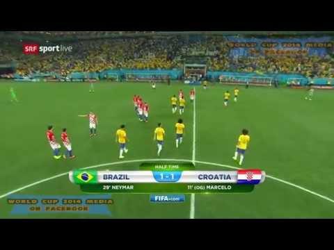 Brazil vs Croatia in World Cup Full Match HD 720p