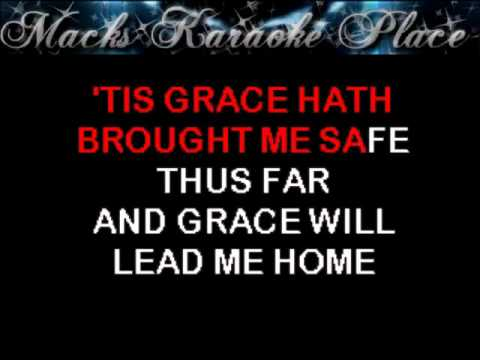 Amazing Grace   Traditional   Karaoke video
