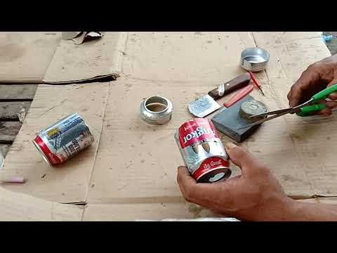 How to make an alcohol stove Using the beverage cans | របៀបធ្វើចង្ក្រានអាកុល