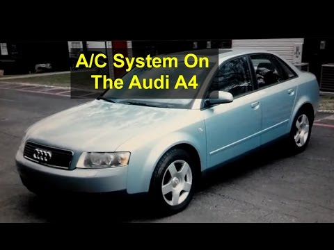 Audi A4 Self Service Recharging the AC System 134a Freon - Auto Repair Series
