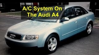 Self service recharging the AC system 134a Freon on the Audi A4  - Auto Repair Series