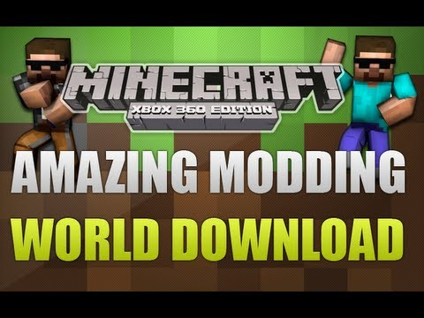 Minecraft Xbox 360 - Amazing! MODDING World With Download!