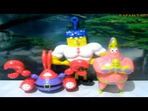 Spongebob Squarepants Movie 2015 (jollibee) Kids Meal Toy Set Hd video