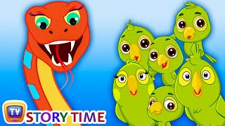 Snake & Parrots - Bedtime Stories for Kids in English | ChuChu TV Storytime