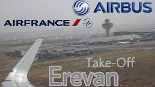 Yerevan Armenia Push, Taxi & Take off | Air France Airbus A320 F-HEPJ | Leaving Armenia | Go Pro HD