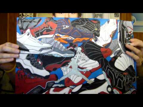 Jordan Retro Shoe Drawings Air Jordan Shoe Drawing