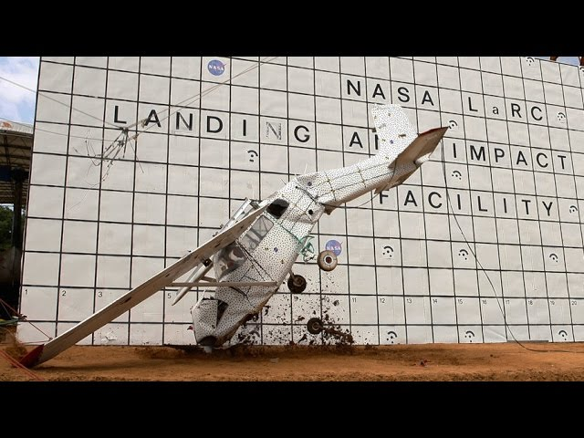 RAW: NASA crashes plane into ground for science