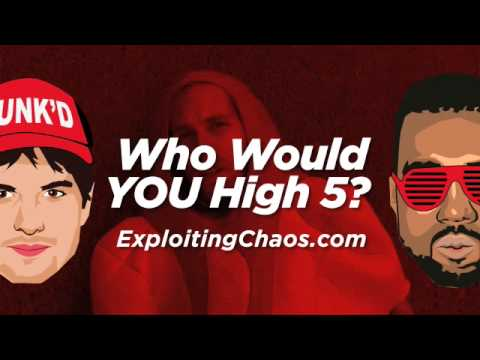 EXPLOITING CHAOS - Ashton vs Kanye High Five Battle (Flash Mob Publicity Stunt)