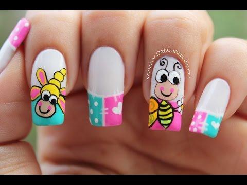 Decoración de uñas caricatura abeja | DEKO UÑAS | Moda en tus uñas