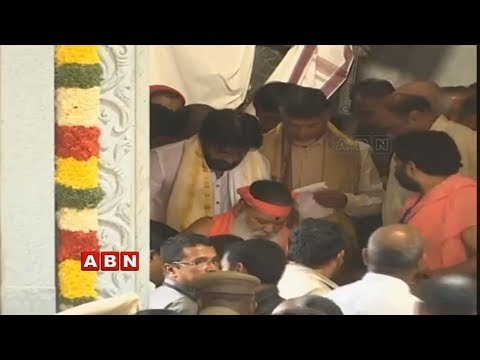 CM Chandrababu and Pawan Kalyan Attends Dashavatara Venkateswara Swamy Temple Inauguration | Live