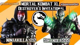 MKX -  Ninjakilla_212  (LiuKang) Vs Sikander555 (Quan Chi) - Destroyer's Invitational GrandFinals