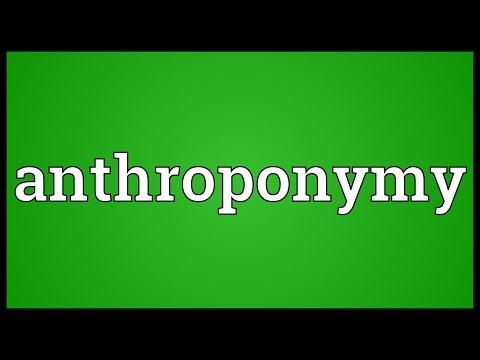 Header of anthroponymy