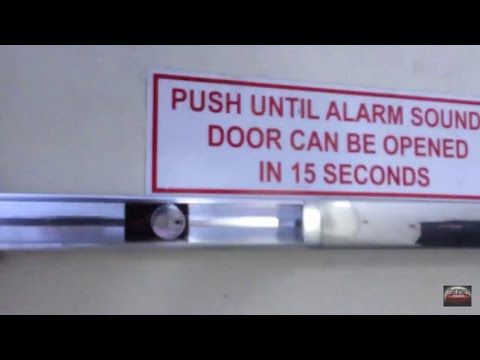 Fire alarm exit from tour bird kingdom niagara falls 17 jan 2014