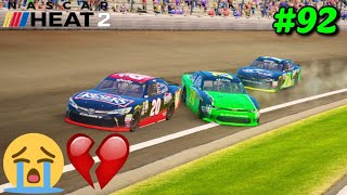 """""""Heartbreaking Finish At Indy"""" NASCAR Heat 2 NXS S3 Career Mode Part 92"""