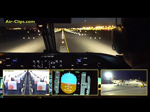 Enjoy a lovely night time cockpit flight in full length from Warsaw (Warszawa) to Bydgoszcz, Poland. Departing just around 11 pm, this flight took place in one of the year's shortest nights...
