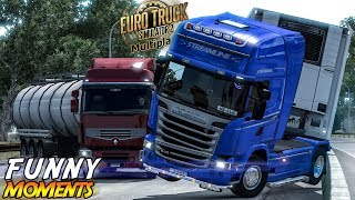 Euro Truck Simulator 2 Multiplayer Funny Moments & Crash Compilation #97