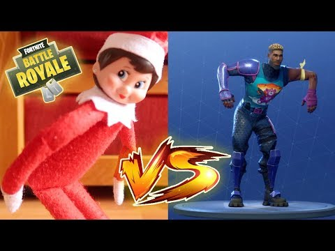 ELF ON THE SHELF caught dancing to the FORTNITE DANCE CHALLENGE!!