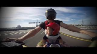 GoPro Hero4 # Honda Africa Twin CRF100 With my son #