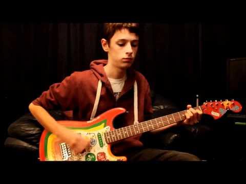 George Harrison Fender Squier Rocky Custom Artwork Enamel Paintjob