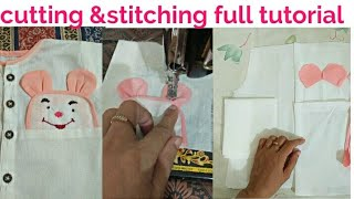 How to cutting and stitching New born baby dress //part 2 by easy salai kattai and tips