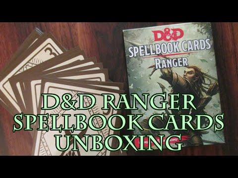 Spell Cards D&d 5e D&d Ranger Spellbook Cards