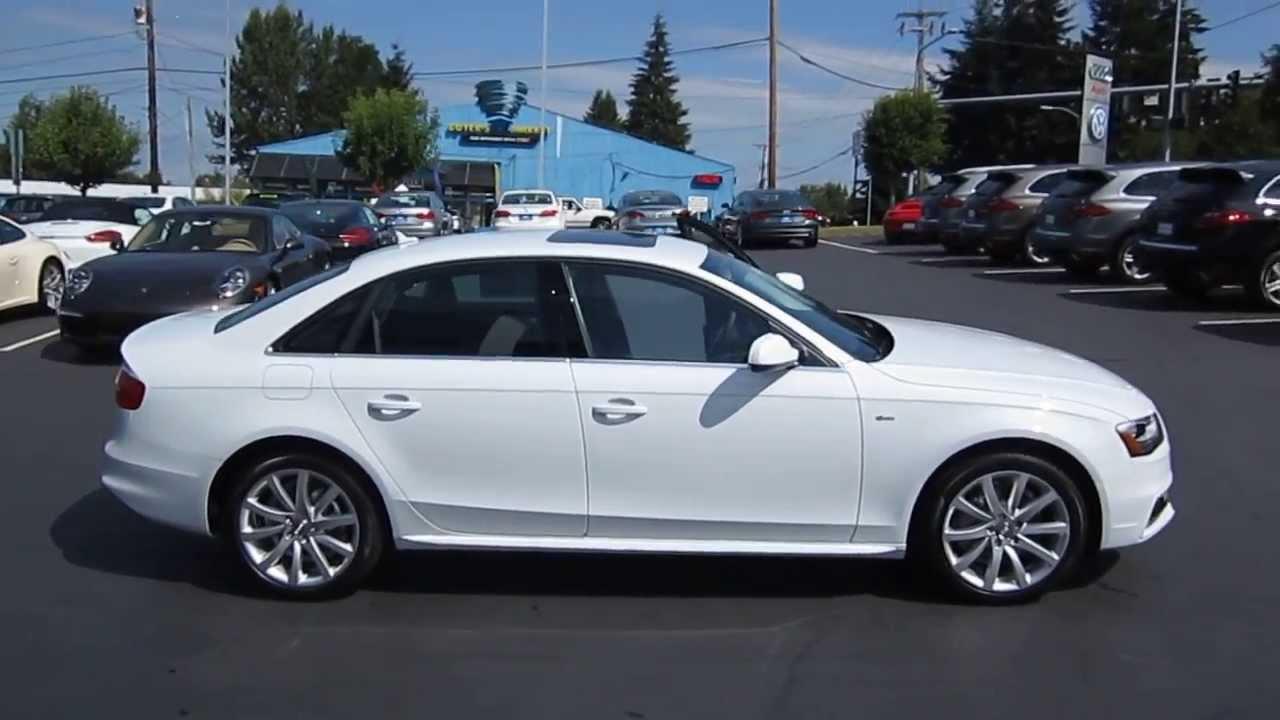 2014 Audi A4 Glacier White Stock 109431 Youtube
