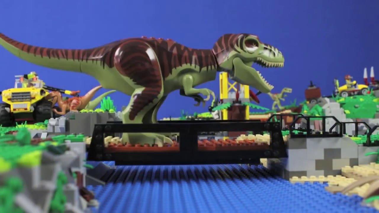 Jurabrick park lego dino stopmotion youtube - Lego dinosaures ...