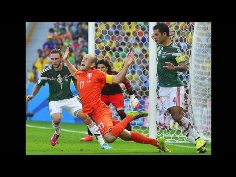 la caída de Robben que le robo la COMPA   a mexico