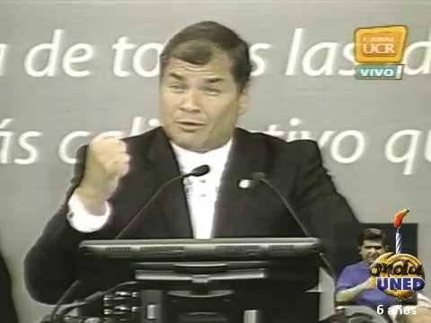 Conferencia Magistral de Rafael Correa en la UCR Logros de la revolución ciudadana en Ecuador