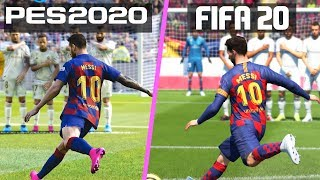 FIFA 20 vs PES 2020 | Free Kicks Comparison