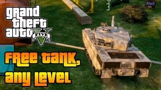 ★ GTA 5 - Online : How to get FREE TANK in ANY LEVEL !!! (GTA 5 Online tips & Tricks)