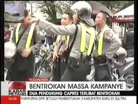 Pendukung Jokowi dan Prabowo Bentrok Di Jogjakarta