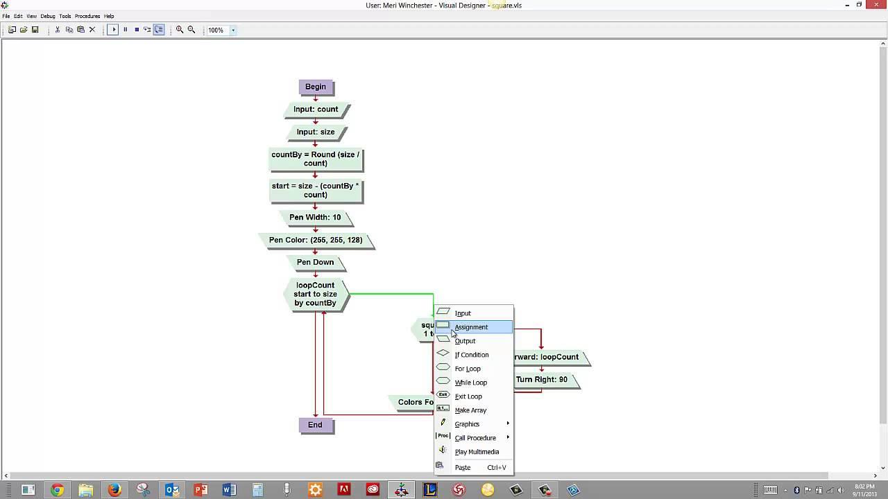 Merihelp Net Using Looping With Graphics In Visual Logic