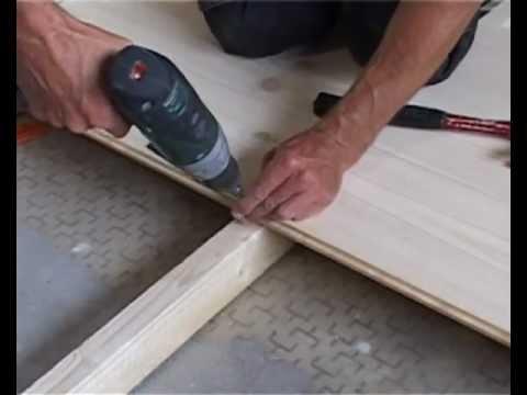 Деревянный пол из строганой шпунтованной доски своими руками (фото)
