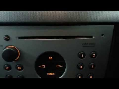 How to enter the radio code on all Vauxhall Opel cars