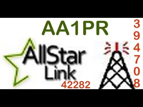 AA1PR's  Allstar Node 42282 Range Test with N1NDN & KC1EGU